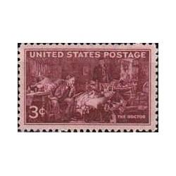 1 عدد تمبر پزشکان آمریکا - آمریکا 1947