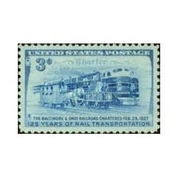 1 عدد تمبر 125مین سالگرد خط راه آهن بالتیمور اوهایو - آمریکا 1952