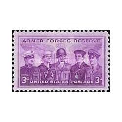 1 عدد تمبر رزرو نیروهای مسلح - آمریکا 1955