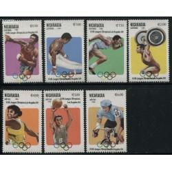 7 عدد تمبر المپیک لوس آنجلس - نیکاراگوئه 1983