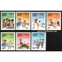 7 عدد تمبر المپیک لوس آنجلس 1932 - گینه بیسائو 1983