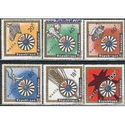 6 عدد تمبر صندوق اجتماعی - رواندا 1967