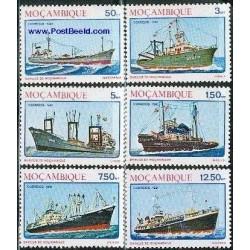 6 عدد تمبر کشتیها - موزامبیک 1981