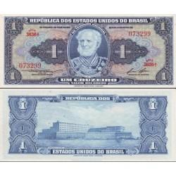 اسکناس 1 کروزرو برزیل 1958 تک