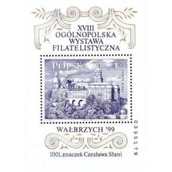 سونیرشیت هجدهمین نمایشگاه ملی تمبر والبریج  - لهستان 1999