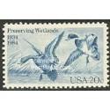 1 عدد تمبر حفاظت از تالابها - آمریکا 1984