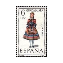 1 عدد تمبر لباسهای محلی اسپانیا -Guadelajara - اسپانیا 1968
