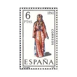 1 عدد تمبر لباسهای محلی اسپانیا -Ifni - اسپانیا 1969